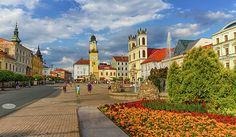 Banska Bystrica's Main Square, Slovakia by Elenarts - Elena Duvernay photo Famous Places, Travel Photos, Fine Art America, Maine, Mansions, House Styles, Beautiful, Photos, Travel Pictures