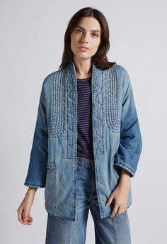 Women's THE KIMONO CAR COAT of 100% COTTON / Machine Wash  | Women's Jackets by CURRENT/ELLIOTT