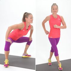 Gate swings will work your inner and outer thighs and make for a great warmup move too. .