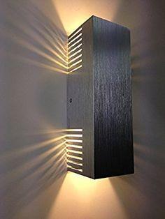 Rectangular shaped wall mount Modern Wall Lights I - Murales Pared Exterior Custom Lighting, Cool Lighting, Lighting Design, Indoor Wall Lights, Modern Wall Lights, Arte Bar, High Power Led, Wall Light Shades, Interior Wall Lights