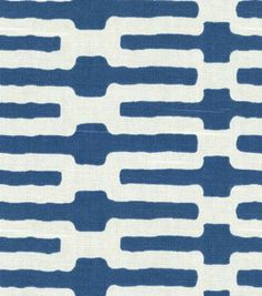 Home Decor Fabric-Annie Selke Links Indigo  # 2316776  reg. 49.99  sale $24.99