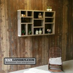 Vakkenkast / letterbak kast van steigerhout ... www.vanlonden.com