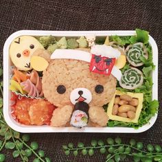 """1,586 個讚好,0 則回應 - Instagram 上的 もねっち(@matae4281021):「 おはようございます🙂 * * 日本の伝統行事系お弁当を考えるのはちょっと苦手💦 * * 例年作ってる節分弁当と、大して代わりばえのない「節分弁当」になりました😅 * * 今回頑張ったのは""""恵方巻き""""… 」 Cute Bento Boxes, Instagram"""
