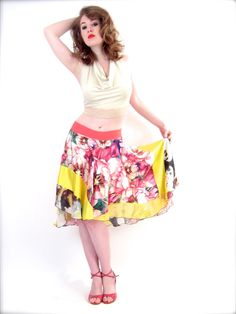 hue blooms circle skirt by poemaByHannahLouise on Etsy