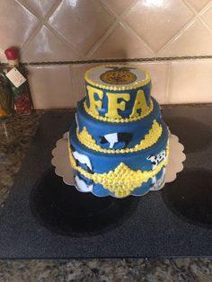 The FFA cake i made for auction today!!