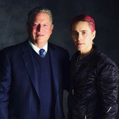 Jared no IG / Twitter 13/10/2015  ''Me + the former Vice President of the U.S.A. -- Al Gore. Thanks for being such an important part of #BeyondTheHorizon ''