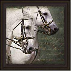 overstock.com Kimberly Vickrey 'Carousel Horses' Print Art horse art