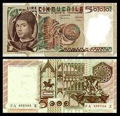 Italy - Italian Lire Currency Image Gallery - Banknotes of Italy Italian Lira, Equestrian Statue, Vintage Posters, Messina, Money Bank, Nostalgia, History, Paper, Jewish Ghetto
