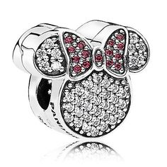 a7dc66d071f9 charm jewelry Minnie Mouse Ears Charm by PANDORA - Minnie s sparkling  personality is reflected in this