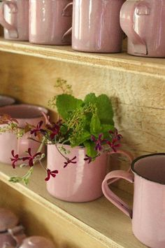 i wish i could find some pink enamel cups :(