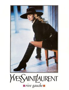 """floral-mother-of-god: """" Elaine Irwin Yves Saint Laurent 1990 """" Shot by Arthur Elgort Vintage Ysl, Mode Vintage, Vintage Fashion, Vintage Couture, Vintage Clothing, Yves Saint Laurent, Saint Yves, Elaine Irwin, 80s And 90s Fashion"""