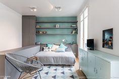 Rénovation complète et décoration d'un studio au coeur de Paris, Paris, Nancy Geernaert - architecte d'intérieur