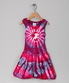 Take a look at this Fuchsia Drop-Waist Dress - Toddler & Girls by Groovy Blueberry on #zulily today!