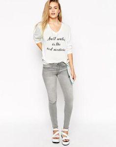 wildfox marianne skinny jeans  grey #skinnypants #streetwear #pants #skinny #jeans #covetme