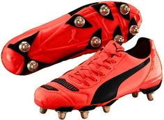 New Puma evoPOWER 4.2 H8 Soft Ground/Studded Lava Rugby Boots Sizes UK 6 - 12 #PUMA