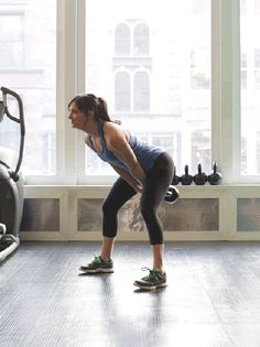 Leanne Shear of Uplift Studios in New York shows how to workout with kettle bells.