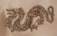 Aprils always something exciting in store sale Many items from 10-60% off Outstanding Sterling Marcasite Art Nouveau Dragon Brooch