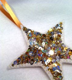 LittleBirdHouse x Glitz and glamour sequin star decoration £3.50