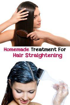 Homemade treatment for hair straightening