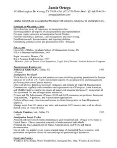 resumes for paralegals