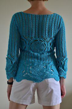 Crochet by Natalia kononova  http://outstandingcrochet.blogspot.com/2012/05/skyblue-is-my-favorite-color.html