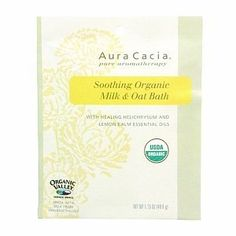 Aura Cacia Milk and Oat Bath, Helichrysum and Lemon Balm, 1.75-Count (Pack of 3) by Aura Cacia. $8.97. Soothing bath. For Dry Sensitive Skin. Eczema and Psoriasis relief. Aura Cacia Organic Milk & Oat bath with Healing Helichrysum