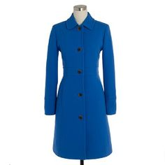 I'm very much into blue clothes right now. Classic coat.