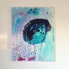 """""""Flower in top"""" - abstract painting by Mette Lindberg. www.mettesmaleri.dk"""