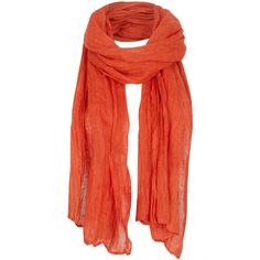 Crushed Linen Scarf found on Polyvore