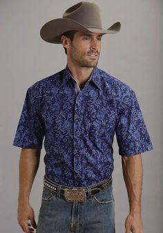 Inked : Mens Short Sleeve Stetson® Paisley Western Shirt   Free Shippin on Western Shirts