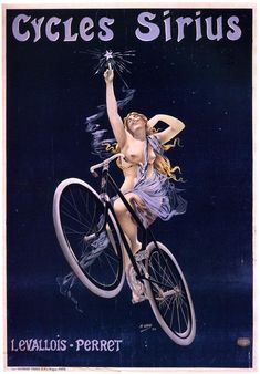 cadenced:  Cycles Sirius poster by Henri Gray from 1899 found on the Tonton Vélo forum.
