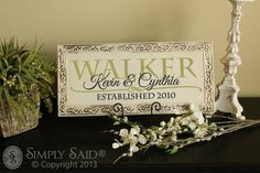 Beautiful wedding gift!!!!  Simply Said isn't made for walls only!!! The vinyl letter can be applied to tile, glass, wood, and much more. Design your own or choose from one of Simply Said's phrases!! www.mysimplysaiddesigns.com/1503/