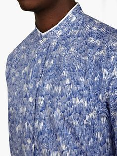 Kenzo Men's Blue Print Shirt  £193.00