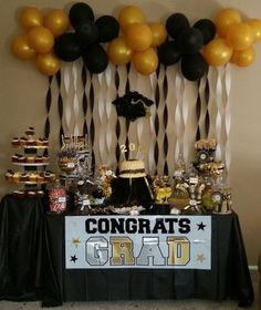 High school graduation is a significant milestone in the life span of a teen. High school graduation comes just once in someone's life. High school graduation comes at a critical time in an i… Grad Party Decorations, Graduation Party Centerpieces, Graduation Party Planning, College Graduation Parties, Graduation Party Decor, Graduation Table Decorations, Outdoor Graduation Parties, Graduation Banner, School Decorations