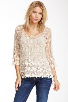 Crochet Lace Sweater by Fever on @HauteLook