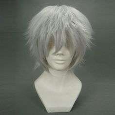 Anogol Sexy Anime Silver Short Wig Kaneki Ken Cosplay Wig Layered Straight Party Wigs ** This is an Amazon Affiliate link. Click on the image for additional details.