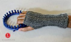 Finger-less Loom knit Mittens FREE Pattern with Video
