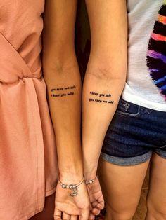 Get a tattoo, tattoos for women, cute tattoos, small tattoos, special tatto Small Bff Tattoos, Small Best Friend Tattoos, Couple Tattoos, Trendy Tattoos, Foot Tattoos, Unique Tattoos, New Tattoos, Body Art Tattoos, Tattoos For Women