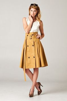 Emma Stine Coupons, Reviews and Savings/Love this skirt and the color.  Shoes are cute too.