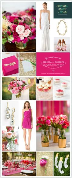 """For two incredible years, I had the pleasure of being the resident """"Magic Maker"""" at the wedding blog REVEL. Here is an archive of my favorite REVEL wedding color combos from inspirations' past! Browse by color or see them all below! Reds, Pinks & Peach: Orange & Coral: Yellow: Greens & Teal: Blues: Purples & Plum: Pretty Pastels: Colorful: Metallics: Neutrals: Black & White: Holiday:"""
