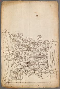Architectural Drawing Design French and Italian architectural drawings and engravings of classical order of columns - 1530 - 1570 - Architecture Antique, Unique Architecture, Architecture Drawings, Classical Architecture, Carving Designs, Stencil Designs, Designs To Draw, Modern Architects, Technical Drawing