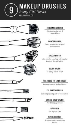 9 Make-up Brushes Every Girl Needs