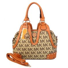 Michael KORS Vanilla Signature Lrge Work Tote Travel Bag Crossbody Satchel Purse #MichaelKors #Satchel#####http://www.bagsloves.com/
