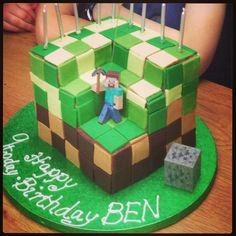 Minecraft cake by Vicky Pool