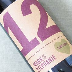 Wedding Wine Label Table Number Kraft with Heart. set of 12 on Etsy, $27.00