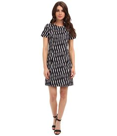 MICHAEL Michael Kors Print Block Fitted Dress