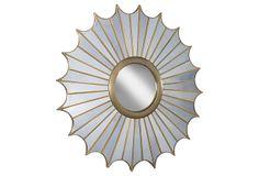 "Regina-Andrew | Brass Scallop Mirror | 40""dia x 3""d | 850.00 retail"