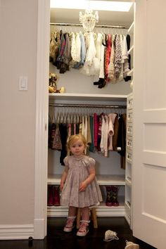 The Girl's White Closet – modern – closet – los angeles – Lisa Adams, LA Closet Design The Girl's White Closet – Contemporary – Wardrobe – Los Angeles – Lisa Adams, LA Mini Closet, Deep Closet, White Closet, Double Closet, Double Garage, Toddler Closet Organization, Closet Storage, Toy Storage, Storage Ideas
