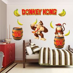 Donkey Kong Decal Donkey Kong Wall Decal Donkey Kong by PrimeDecal