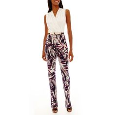 99960c341cb Studio 1® Sleeveless Belted Jumpsuit - JCPenney Suits You